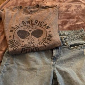 Jeans and tee shirt